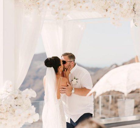 Santorini Wedding Photos - Lacee & Paul