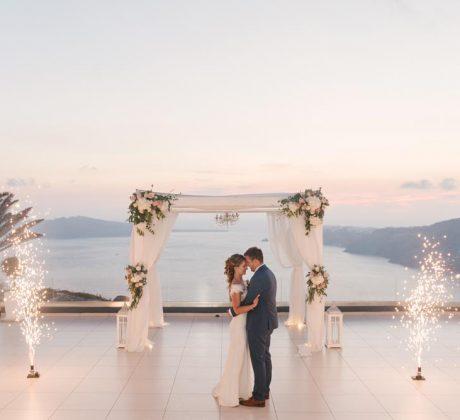 Santorini Wedding Photos - Lydia & Michael